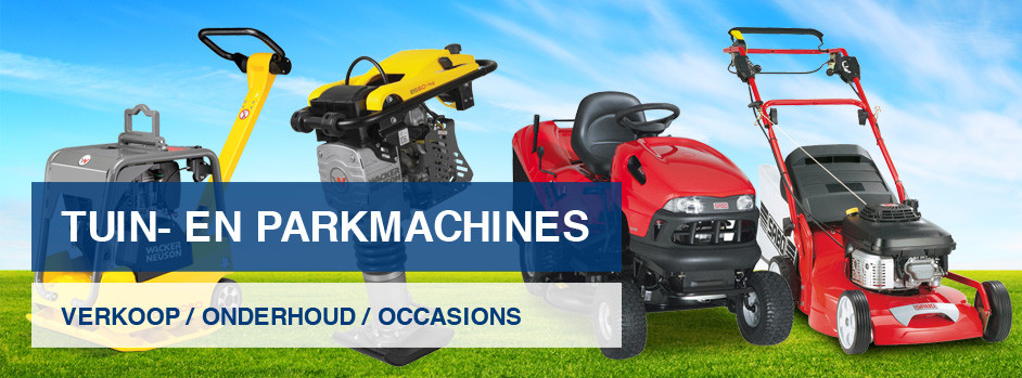 Tuin, park, bos en stratenmakers machines